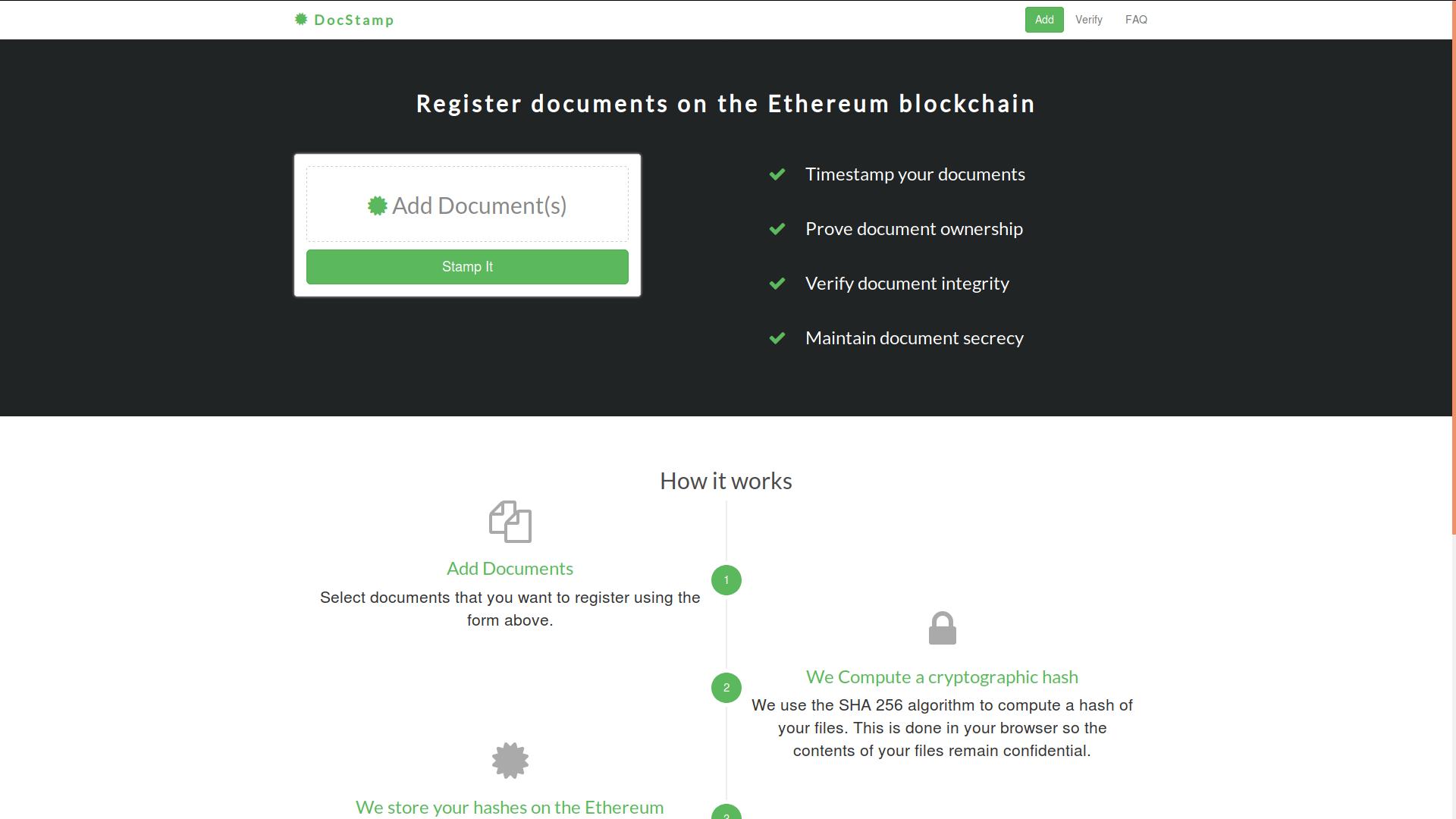 Certifiez la détention et la date d'un document grâce à l'Ethereum